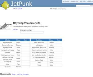 Rhyming Vocabulary 2