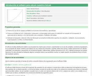 Introducción al software para cálculo numérico SciLab