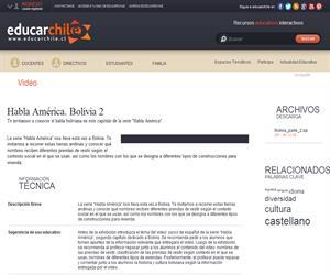 Habla América. Bolivia 2 (Educarchile)
