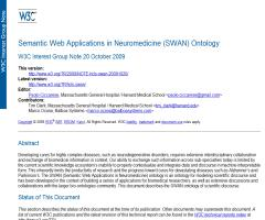 Semantic Web Applications in Neuromedicine (SWAN) Ontology