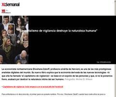 """""""El capitalismo de vigilancia destruye la naturaleza humana"""", entrevista a Shoshana Zuboff en XL Semanal"""