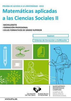 Examen de Selectividad: Matemáticas CCSS. País Vasco. Convocatoria Junio 2013