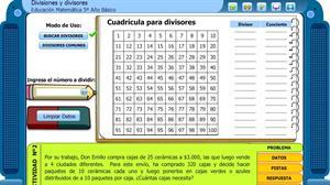 Divisiones y Divisores (Educarchile)