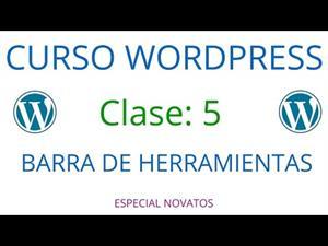 Wordpress Novatos | Clase 5 | Barra de Herramientas