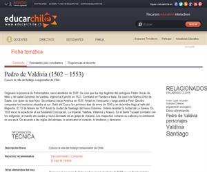 de Valdivia, Pedro (1502 - 1553) (Educarchile)