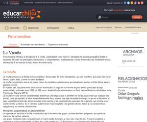 Ficha Vicuña (Educarchile)