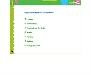 Recursos didácticos interactivos para 1º Primaria (Anaya)