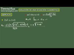 Solución de una ecuación cuadrática. Ejercicio 10 de 15 (Tareas Plus)