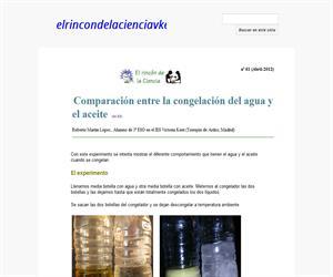 Comparación entre la congelación del agua y el aceite