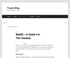 WebID – A Guide For The Clueless