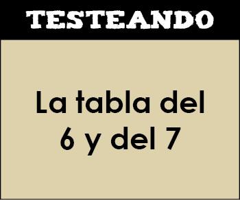 La tabla del 6 y del 7. 2º Primaria - Matemáticas (Testeando)