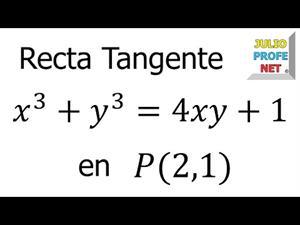 Derivación Implícita y cómo hallar la Ecuación de la Recta Tangente (JulioProfe)