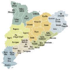 Comarques de Catalunya. Nombre de municipes per comarca (comarcalia.com)