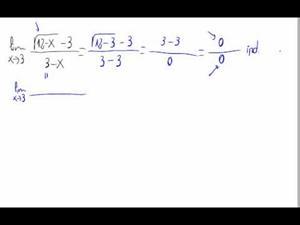 Límite de una función (Ind. 0/0, coc. con raíces)
