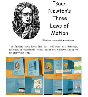 Lapbook de las leyes del movimiento de Newton. Newton's Three Laws of Motion Window Book (Homeschool Share)