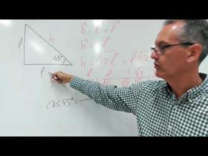 Razones trigonométricas de 45º (deducción)