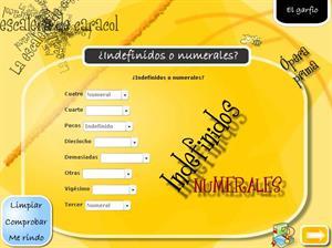Determinantes numerales e indefinidos