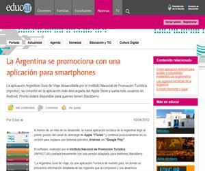 La Argentina se promociona con una aplicación para smartphones