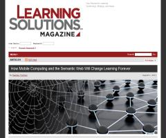 How mobile computing and the semantic web will change learning forever