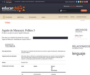 Juguito de Maracuyá. Pollitos 3 (Educarchile)