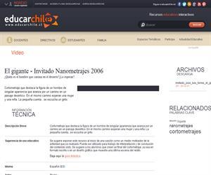 El gigante - Invitado Nanometrajes 2006 (Educarchile)
