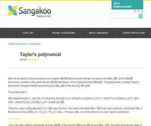 Taylor's polynomial