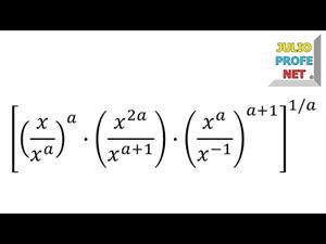 Simplificación de una expresión algebraica con propiedades de la potenciación (JulioProfe)