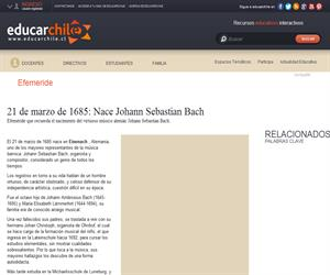 21 de marzo de 1685: Nace Johann Sebastian Bach, músico (Educarchile)