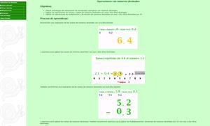 Números decimales. Operaciones con números decimales