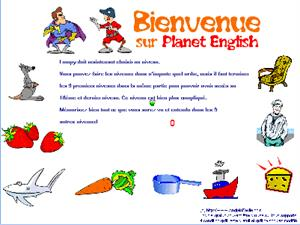 Juego de vocabulario en inglés: Planet English