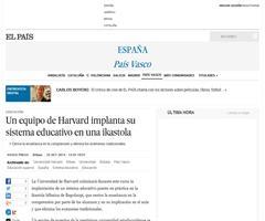 Un equipo de Harvard implanta su sistema educativo en una ikastola