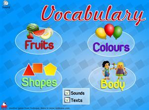 Vocabulary , vocabulario de inglés para los más peques en Vedoque