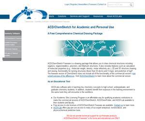 ACD/ChemSketch Freeware: Dibuja estructuras, reacciones y esquemas químicos