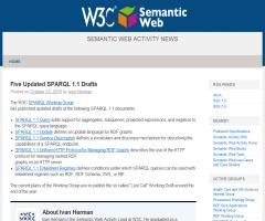 W3C publica 5 nuevos borradores sobre SPARQL 1.1 - W3C Semantic Web Activity News
