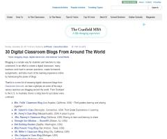 30 Digital Classroom Blogs From Around The World (Edudemic)