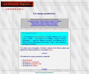 Los cuerpos geométricos (la escuela digital)