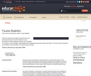 Vicente Huidobro (Educarchile)
