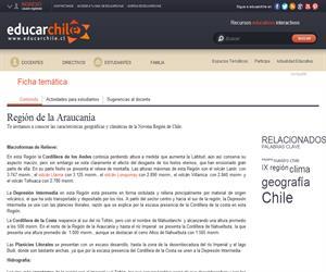 9na Región Geografía y clima (Educarchile)