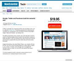 Google, Twitter and Facebook build the semantic web (newscientist.com)