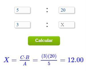 Calcolo proporzioni online