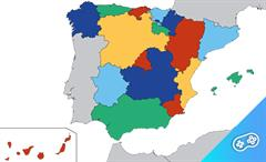Puzle. Comunidades autonómas españolas.Puzle interactivo.