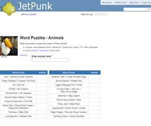 Word Puzzles - Animals