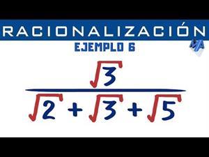 Racionalización de denominadores | Ejemplo 6 Trinomio