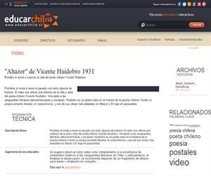 Altazor de Vicente Huidobro 1931 (Educarchile)
