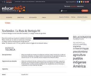 Xochimilco. La Ruta de Beringia 04 (Educarchile)
