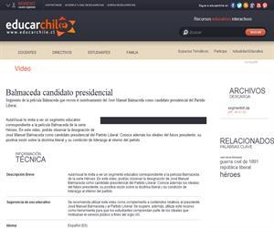 Balmaceda candidato presidencial (Educarchile)