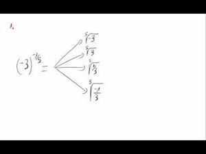 Potencias, signos negativos y exponente fraccionario  - Cuestión 1