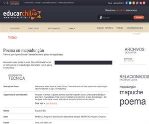 Poema en mapudungún (Educarchile)