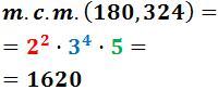 Mínimo común múltiplo (mcm) y Máximo común divisor (MCD)