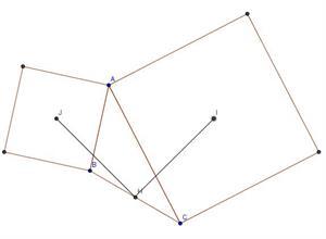 Dos segmentos iguales y en ángulo recto ( Desafío matemático nº 39. elpais.com)